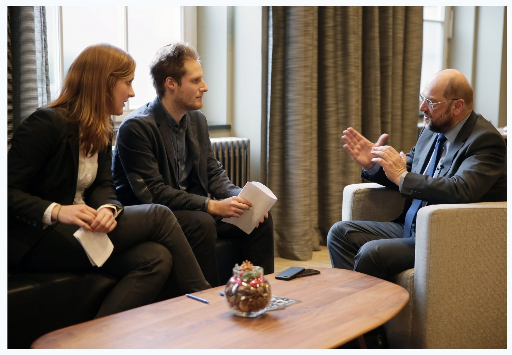 Martin Schulz, interviewed by Virginia Kirst and Christoph Wagner