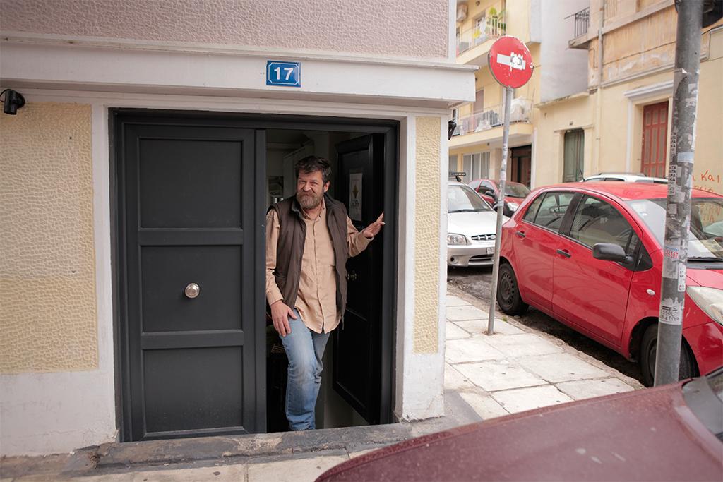 Vassilis am Eingang